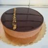 csokoládé mousse torta tükörglazúrral