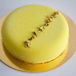 Pisztáciás fehércsokoládé mousse torta