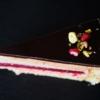 gesztenye mousse torta szelete felülnézeti kép